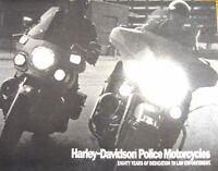 1989 Harley-Davidson POLICE Motorcycles Brochure, Electra Glide, Pursuit Glide