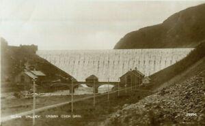 1950s postcard Caban Coch Dam Elan Valley Radnorshire