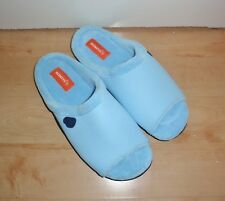 NEW Homeys mens SKUARES blue cushioned sole slippers size UK L 9 -10