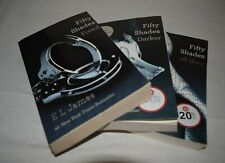 Fifty 50 Shades of Grey  3 Book Series Set Trilogy E L James, Lot of 3