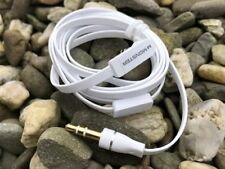 AUDIO CABLE FLAT LEAD 3.5 mm to 3.5 mm WHITE UNIVERSAL USE CA-196U Nokia NEW