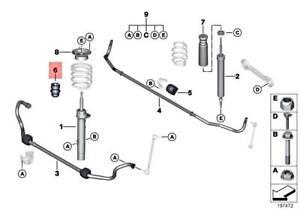 For BMW Genuine Coil Spring Damper Front 31336783090