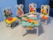 Spring Delton Products Fine Collectibles Wooden Hand Painted Mini Table & Chairs