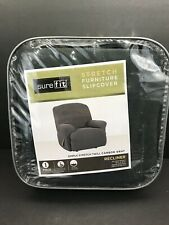 Surefit Simple Stretch Twill One Piece Carbon Gray One Piece Slipcover