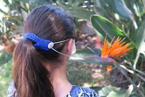 Mask extender, ear saver, mask holder, ponytail cutout, mask clip ear protector