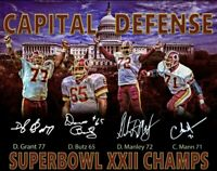 Washington Redskins Capital Defense Signed Auto 16x20 Photo - JSA Auth