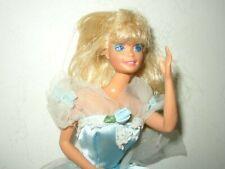 1966 Mattel Barbie Doll in Blue-White Gown