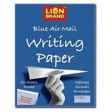 Lion Brand Bleu airmail écrit papier 178mm x 229 mm pad avec 50 a feuilles