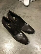 Aw Accessories la Rinascente Brown Leather Almond Toe Pumps Heels - SZ 39 9