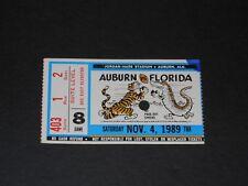 Vintage November 4, 1989 Auburn Tigers v. Florida football ticket-2 - Phil Neel