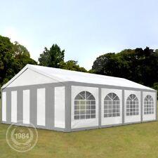 Partyzelt Pavillon 5x8m Bierzelt Festzelt Gartenzelt Vereinszelt Zelt grau-weiß