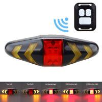 Bicycle LED Indicator Bike Rear Laser Turn Signal Light Night Warning Tail Light