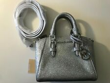 NEW Michael Kors 35H9SGFC8O Ciara XS Mini Leather Crossbody SILVER $328