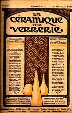 """""""La CERAMIQUE et la VERRERIE"""" 25 juin 1926    Emaux de couleurs dits """"MAJOLIQUES"""