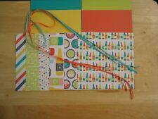 "Stampin Up BUBBLES & FIZZ 6 X 6"" Designer Paper Card Kit Ribbon"