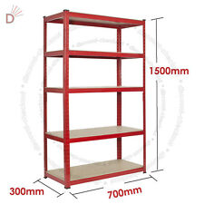 Heavy Duty Storage Racking 5 Tier Red Shelving Boltless for Garage Workshop UKDC
