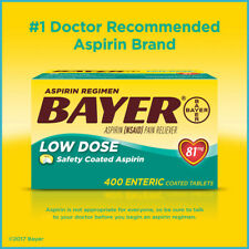 [NO TAX] Aspirin Regimen Bayer, 81 mg. Low Dose, 400 Tablets Pain Reliever
