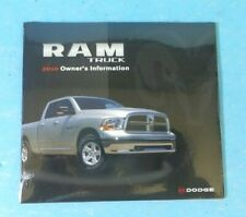 10 2010 Dodge Ram Truck 1500/2500/3500 owners manual reference DVD BRAND NEW