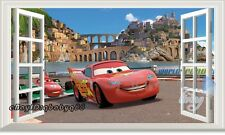 60x100 Disney Cars McQueen 3D Window Wall Sticker Decor Kids Party Decals Art