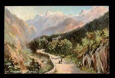 France The Pyrenees Eaux Bonnes artist L M Long Tuck Oilette #7395 PPC