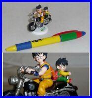 Dragonball Z Diorama Figure Goku et Gohan Sur Moto Noire BANDAI Japan Neuf Rares