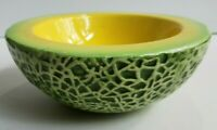 HOLT HOWARD CERAMIC CANTALOUPE MELON BOWL VINTAGE 1959 Glazed Antique