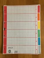 LEITZ 4350 Registerblätter / Trennblätter 6-teilig blanko Pappe f. DIN A4