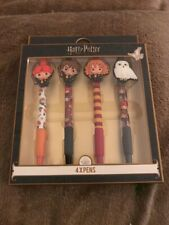 Harry Potter Pens x4 (Harry, Ron, Hermione & Hedwig) Primark Gift Set Christmas