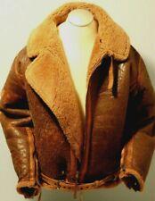 Original, Actual, Vintage WW2 RAF IRVIN, B3,  Shearling Bomber Jacket, Men's XL