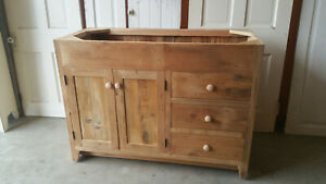 "BATHROOM VANITY, 48"" RECLAIMED BARNWOOD VANITY, DRAWERS LEFT OR RIGHT, RUSTIC"