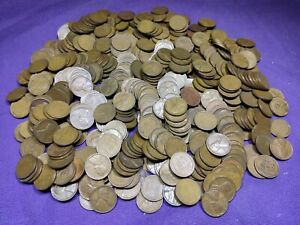 Lot of 500 Mixed Thirties Dates 1930 - 1939 Lincoln Wheat Cents Pennies!! Lot 3