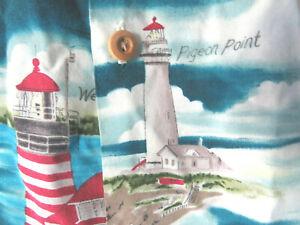 LIGHTHOUSES HAWAIIAN SHORT SLEEVE Unbranded BUTTON SHIRT key west lighthouse