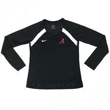 New Nike Alabama Crimson Tide Long Sleeve Miler Top Women's Medium Black 923292
