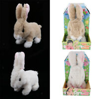2PCS Plush Rabbit Interactive Toy Jumping,Wiggle Ears,Nose Moving Bunny Toy