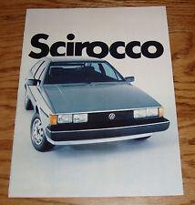Original 1982 Volkswagen VW Scirocco Sales Brochure 82