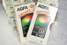 8 x Video Kassette VHS Leer E-195 AGFA GX = 6 € / Stück