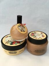The Body Shop Set Vanilla Chai Boddy Butter + Body Scrub + Shimmer Mist P&P