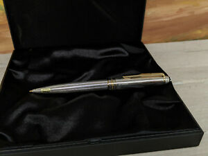 MONTBLANC Meisterstuck Solitaire Sterling Silver 0.5mm Mechanical Pencil, NOS!
