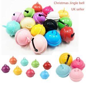 22mm Mix Colour Small Jingle Bells Jewellery Charm Festive Decor DIY Pendants