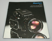 Mamiya M645 Camera System Marketing Brouchure/Booklet - 8 Pages
