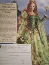 Franklin Mint BRIANNA Princess of Tara Doll Magazine Ad DOUBLE SIDED