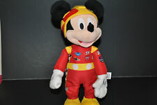 Mickey Mouse Roadster Racers Stuffed Animal Plush Toy Disney Helmet