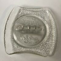 Vintage Retro Mid-Century Modern Collectible Holiday Inn  Clear Glass Ashtray