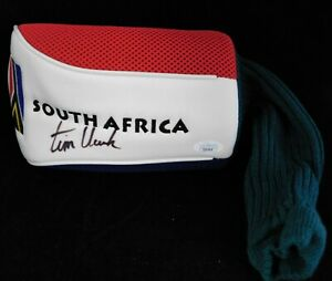 Tim Clark PGA Signed South Africa Golf Head Cover JSA Authenticated