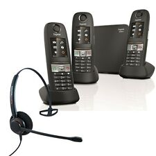 Cordless Phone Gigaset E630A 3 Handsets w Answer Machine and Corded Headset