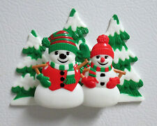 Christmas Snowmen & Snow-women Magnet or a Cake topper by DecoPac