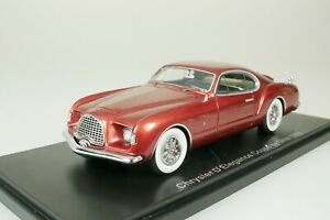 Chrysler D'Elegance coupe By Ghia 1953 - Red 1/43 Neo 44828 New