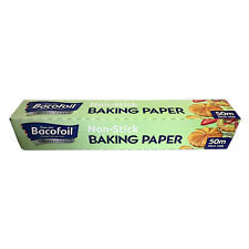 Baco Professional Baking Parchment 50m roll, 45cm width. Case of 6 rolls.