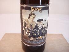 Founders CURMUDGEON'S BETTER HALF Ale Beer Bottle Bourbon Barrel Aged Empty