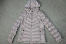 Sz Medium Michael Kors Packable Hooded Puffer Jacket 90% Goose Down Fill Taupe